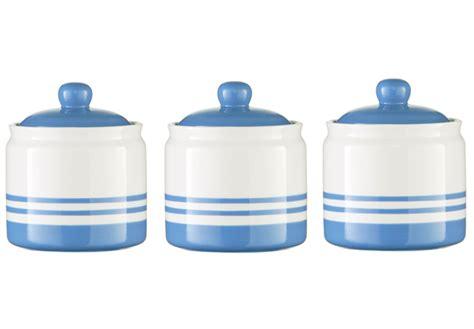 cornish blue stripe ceramic tea coffee sugar storage