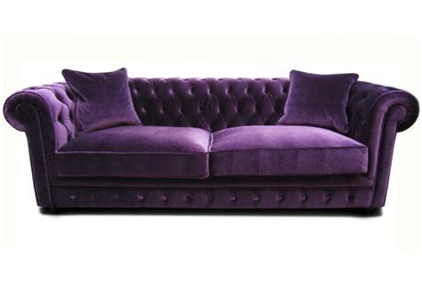 canapé chesterfield velours canapé chesterfield en velours claridge design sur sofactory