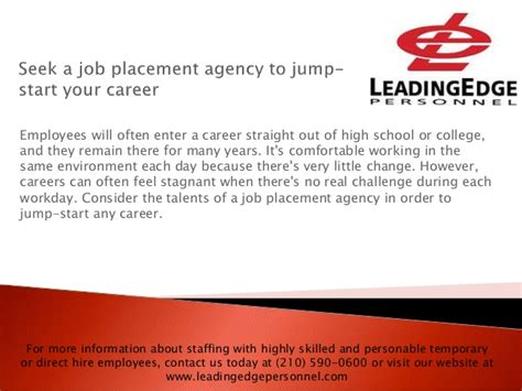 Seek A Job Placement Agency To Jump Start Your Career
