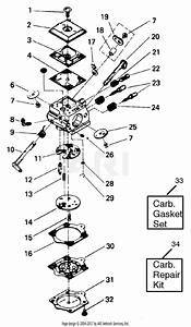 Poulan 3800 Gas Saw Parts Diagram For Carburetor Assembly  P  N 530035094