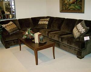 olympian chocolate 2 piece sectional couch my american With sectional sofa american freight