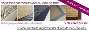 Tapis Sisal Sur Mesure : tapis chic tapis sur mesure tapis personnalis de qualit tapis chic ~ Teatrodelosmanantiales.com Idées de Décoration
