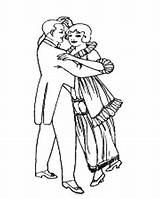 Pages Coloring Dance Dancing Couples Couple Cowgirl Printables sketch template