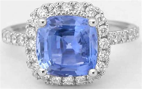 light blue ring 3 62 ctw cushion light blue sapphire and