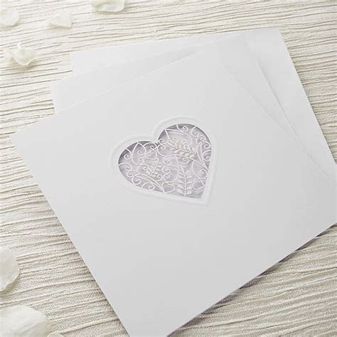 grace diy heart laser cut wedding invitation kit