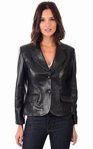 Blazer Femme Noir : blazer cuir femme la canadienne la canadienne veste 3 ~ Preciouscoupons.com Idées de Décoration