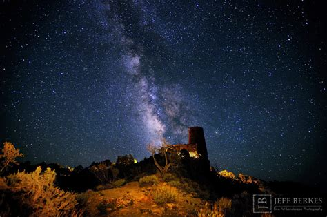 Milky Way Shines Over Grand Canyon Watchtower Spectacular