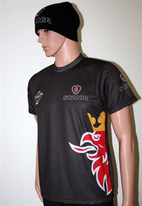 t shirt the scania scania t shirt with logo and all printed picture t
