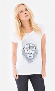 Tee Shirt Ete Femme : t shirt femme original cool lion original et tendance wooop ~ Melissatoandfro.com Idées de Décoration
