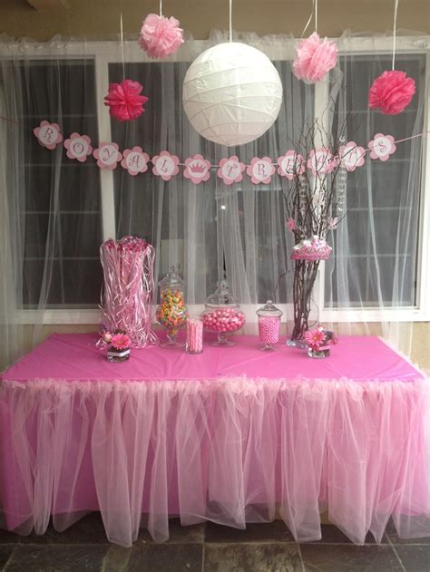 princess theme baby shower royal treats table party