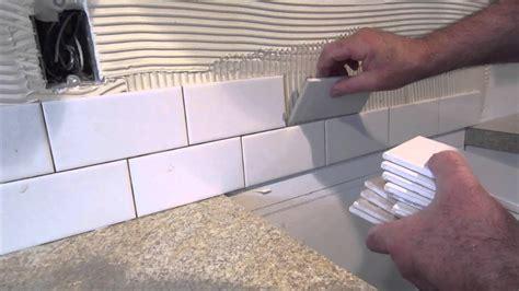 install  simple subway tile kitchen backsplash