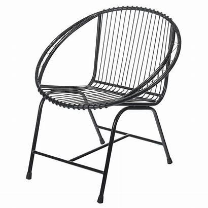 Metal Chair Wire Furniture Garden Patio Veranda