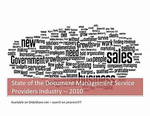 state of the document management solution provider industry With document management services industry