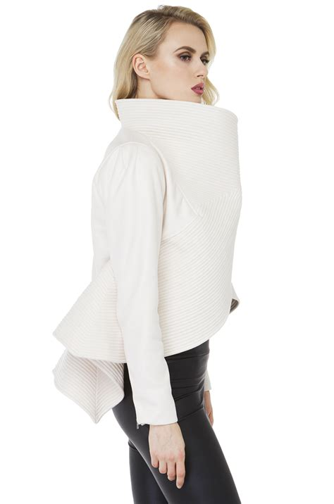 gracia dark knight jacket white  white lyst