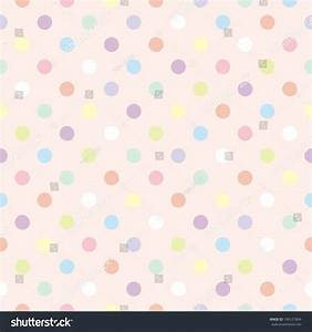 Colorful Pastel Polka Dots On Baby Stock Illustration ...