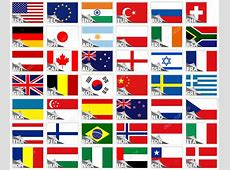 Flags of the world set — Stock Vector © Genestro #5122207