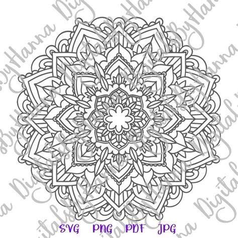 All contents are released under creative commons cc0. Zentangle SVG Files for Cricut Mandala SVG Pochoir Stencil ...