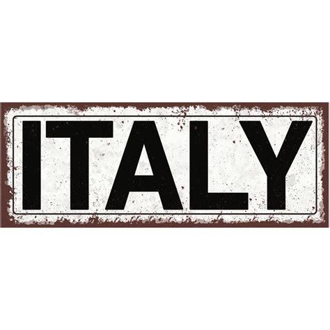 Italy Metal Street Sign