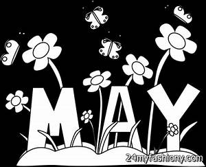 May Clip Art Black And White images 2016-2017 | B2B Fashion