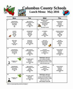 sample school menu template 8 free documents download With free school lunch menu templates