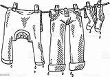 Laundry Clothes Drawing Clipart Line Clothing Wet Vector Clip Sketch Istock Background Cliparts Illustration Only sketch template