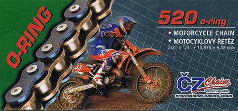 Cz Chains 520 O-ring Motorcycle Chain Ideal For Enduro And