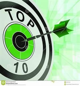 Top Ten Target Shows Successful Ranking Award Stock Images ...