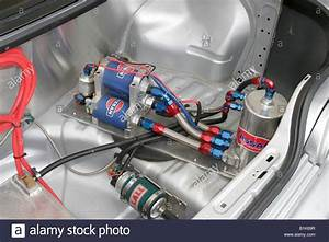 Extravegant Fuel System In The Boot Of A Modified Race Car