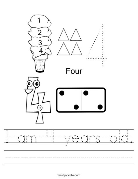 4 year worksheets free worksheets library