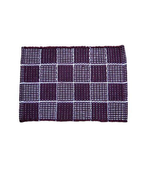 Cotton Door Mat by Home Collection Checkered Cotton Door Mat Buy