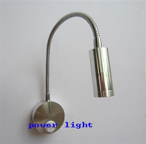 1w aluminum led gooseneck reading light wall mounted