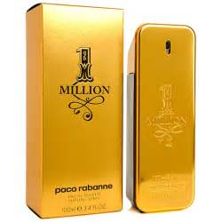 million eau de toilette paco rabanne perfume 1 one million eau de toilette mens cologne parfum 3 4oz nib
