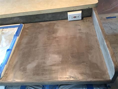 concrete countertop sealer feather finish concrete tile counters and then we tried