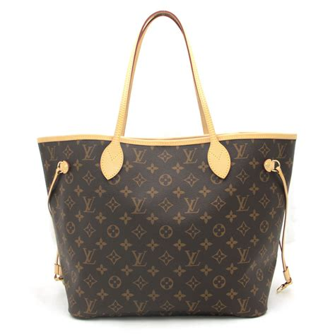auth louis vuitton monogram neverfull mm tote bag monogram