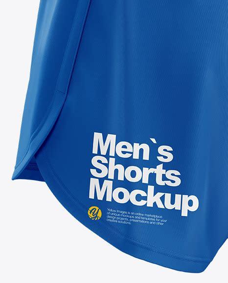 Men's soccer sports shorts mockup set. Men's Split Shorts mockup (Back Half Side View) in Apparel ...