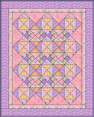 pinks  easy baby quilt pattern