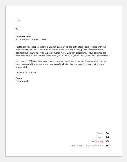 letter  authorize  legal representation document hub