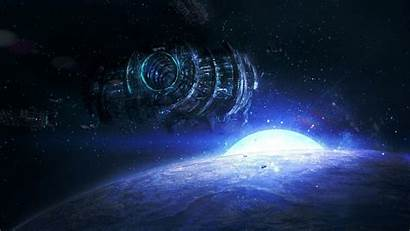 Space Station Fantasy Background Wallpapers Sci Fi