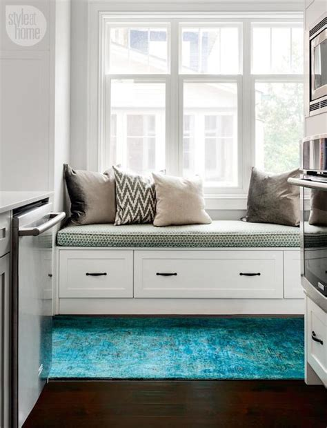 They are commonly placed in areas where you take off your shoes, such as the entryway or mudroom. Kitchen Window Seat - Transitional - kitchen - Style at Home