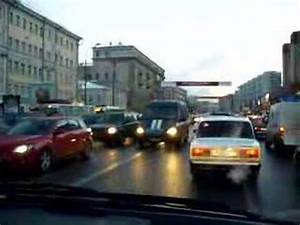 Moscow's traffic during a normal day - YouTube