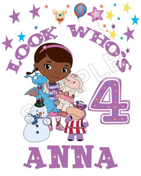 Doc Mcstuffins Birthday Personalized Custom T Shirt Iron