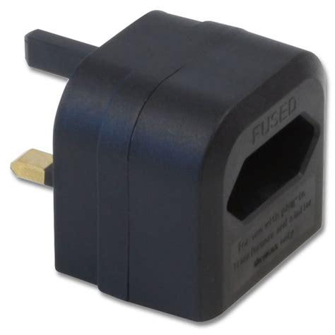euro transformer to uk adapter plug black from lindy uk
