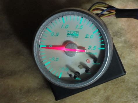 sell jdm hks electronic boost gauge   rx  wrx
