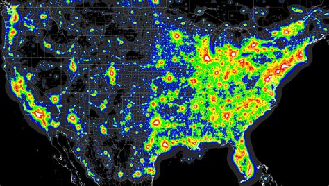 pollution map light pollution map x post from mapporn astronomy Light