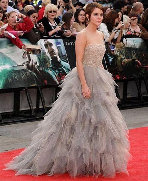 Emma Watson Oscar Renta Dress Harry Potter