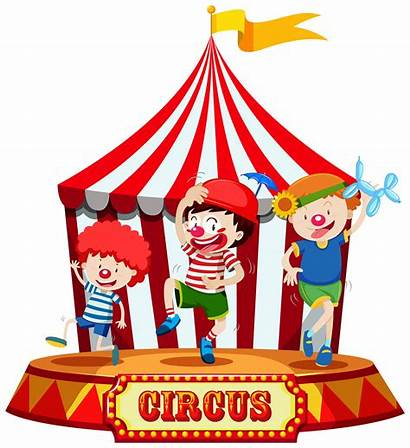 Circus Stage Vector Clipart Graphics