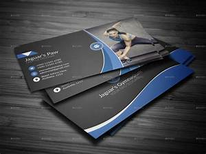 Fitness business card by jaguars paw graphicriver for Fitness business card