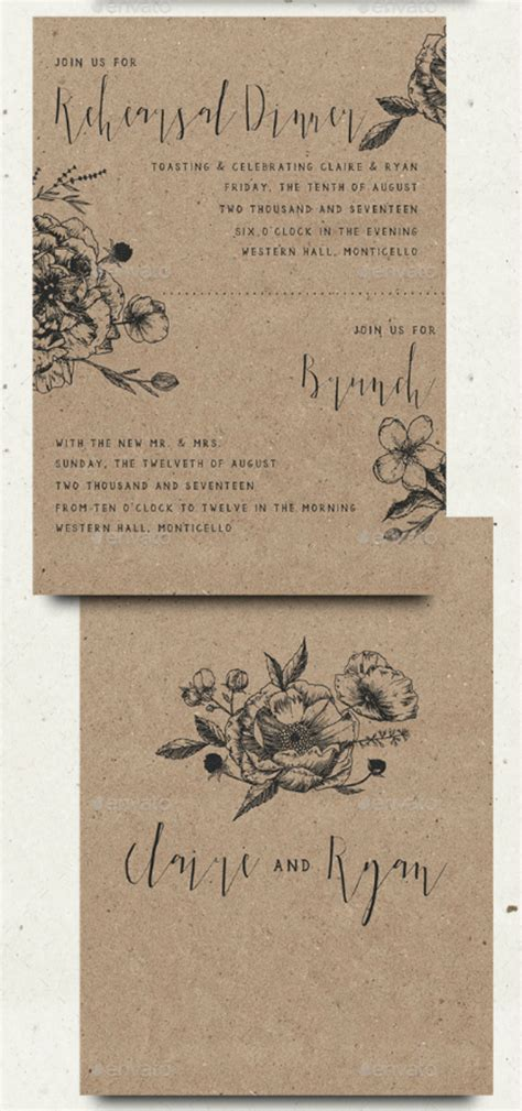 wedding rehearsal invitation designs templates psd