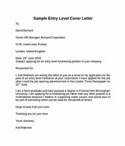 entry level cover letter templates 9 free samples With how to write a cover letter for entry level position