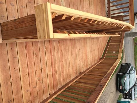 wooden wheelchair ramp  homes ascent mobility
